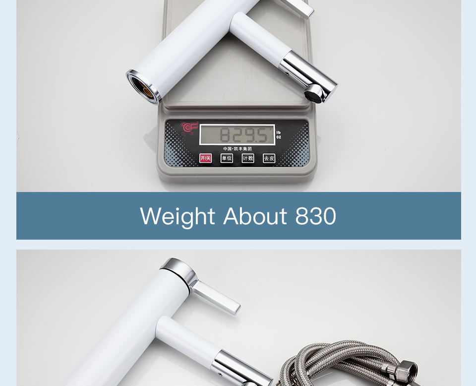 HTB1wjjda2fsK1RjSszbq6AqBXXa0 Frap New Arrival White Spray Painting bath sink faucet Bathroom cold and hot tap Crane with Aerator 360 Rotating F1052-14/15