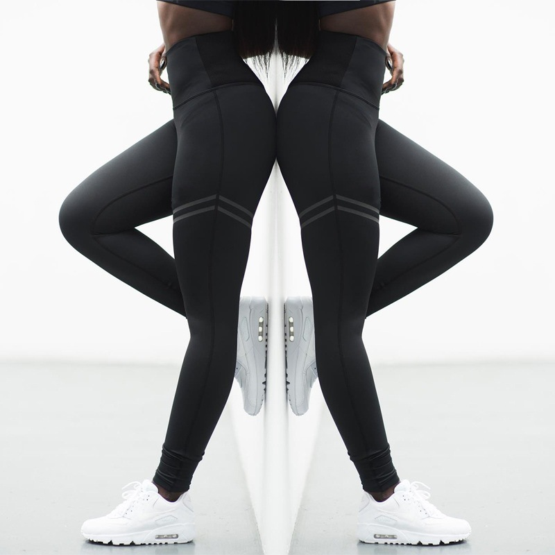2018 Fashion Patchwork Workout Legging <font><b>Activewear</b></font> High Waist Fitness Leggings Women Pants Stretch Slim Sportswear Jeggings