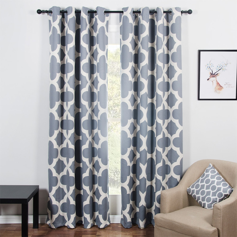 Modern Quatrefoil Pattern Blackout Curtains For Living Room The Bedroom Window Shades Blinds Black Out Custom
