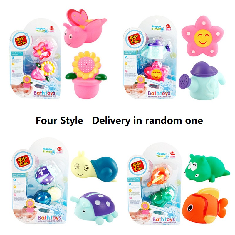 Garden Baby Bath Toy Floating Soft Rubber Water Squeeze Children Playing Toys - Delivery in Random One