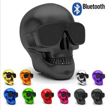 Sunglasses Skull wireless Bluetooth speaker portable Mobile multi-purpose skull cover Bone bass stereo subwoofer s Cool cool skull style ox bone bracelets 2 pack