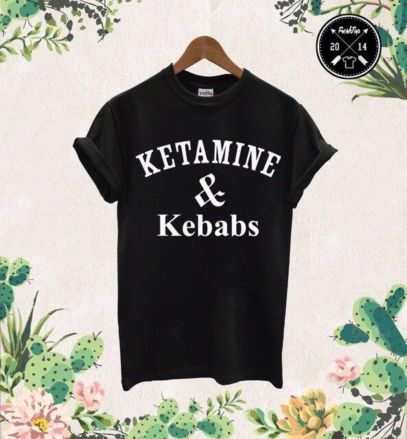 3f50dcfe5 Cetamina   Kebabs camiseta Cocaína E Caviar Shakes de Proteína Pizza  Unicórnio Unisex Droga T-
