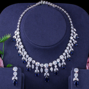 Image 5 - BeaQueen Luxuriöse Afrikanische Zirkonia Perlen Schmuck Set Nigerian Hochzeit Gelb Braut Schmuck Sets für Frauen JS091