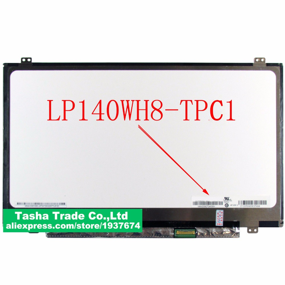 Original LP140WH8-TPC1 LP140WH8 TPC1 TFT LCD Screen LED Display Panel eDP 1366x768 30 pin new 14 14 0 laptop led lcd screen panels display lp140wh8 tla1 hb140wx1 300 b140xtn02 3 lp140