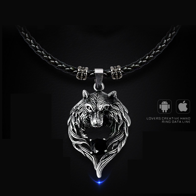 necklace Pendant usb charger for phone data line cable adapter smartphone ayfon charging fast wire quick iphone X samsung S7 se