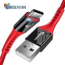 TIEGEM usb type-C кабель для One Plus 6 5t быстрая зарядка QC3.0 USB C Быстрая зарядка USB зарядное устройство кабель для samsung Galaxy S9 S8 Plus
