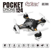 FQ777 124 RC Drone Micro Drone bolsillo 4CH 6 Axis Gyro conmutable Controlador Mini Quadcopter RTF helicóptero del RC niños chico juguetes