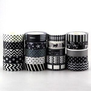Image 4 - Nuovo 50pcs Kawaii Colorful 596 Modelli Giapponese Washi Tape nastro di Carta, FAI DA TE Nastro Adesivo per Scrapbooking, 15mm * 10 m, Carino Cancelleria