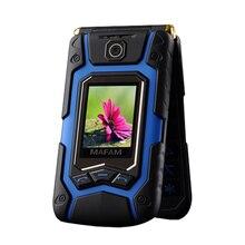 MAFAM Terre retourner cellulaire Rover X9 double écran GPRS écran tactile double carte sim appel FM longue veille téléphone portable cellulaire mobile téléphone P008