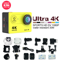 SJ 4000 Действия Wi-Fi камера ЭКЕН H9 Ultra HD 4 К 1080 P/60fps 2.0 ЖК 170D объектив Шлем Cam водонепроницаемая камера