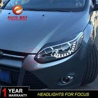 Автомобильный Стайлинг корпус передней фары для Ford Focus фары 2012 2013 2014 фары DRL Ford Focus 3 фары светодиодный Биксенон HID