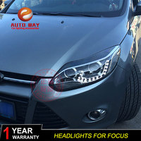 Car Styling Head Lamp case for Ford Focus Headlights 2012 2013 2014 Headlights DRL Ford Focus 3 Headlights LED Bi Xenon HID