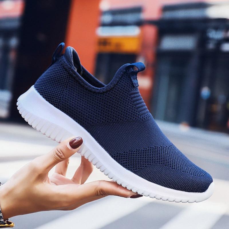 REETENE 2019 Slip On Men Casual Shoes Men Sneakers Summer Running Shoes For Men Lightweight Mesh Shoes Male Big Sizes 36-48 4