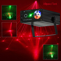 10psc 2in1 Laser Light Outdoor Control snowflake pattern red&green laser christmas laser projector lamp Bar DJ party stage light