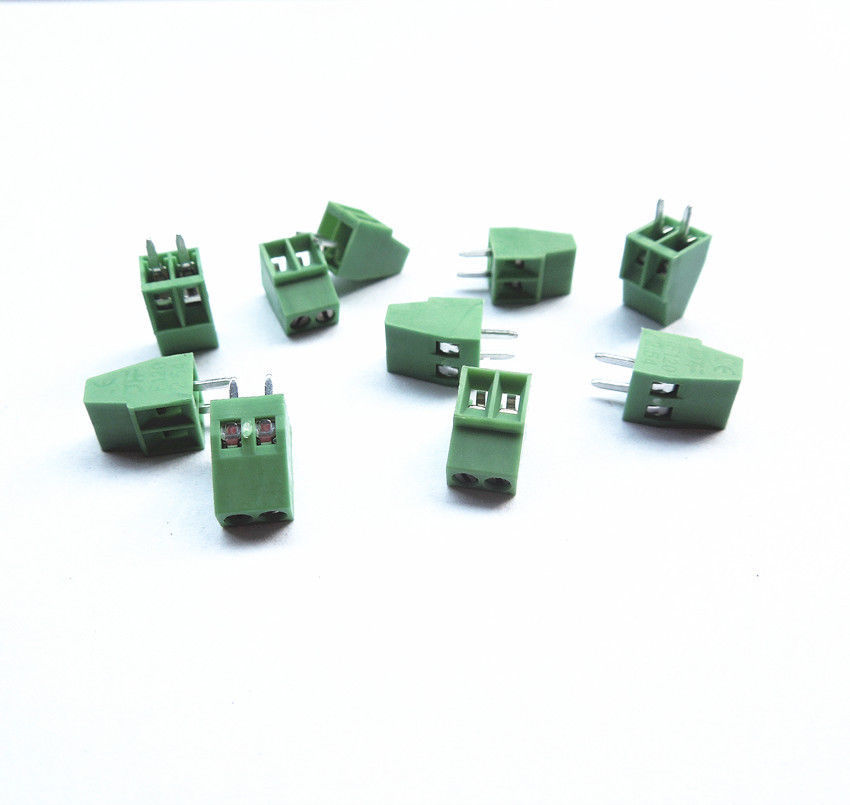 10pcs 2 Poles/2 Pin 2.54mm/0.1 PCB Universal Screw Terminal Block Connector 10 2 2