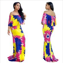 2017 Summer African Dresses for Women Printing Dashiki Dress Robe Femme Casual Indian Clothing Plus Size Sundress M625-1