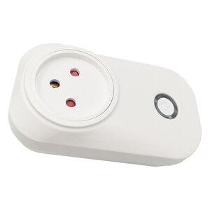 Image 2 - Lonsonho Tuya Smart Stecker WiFi Buchse 16A Power Monitor Typ H 3 Runde Pin für Israel Arbeitet Mit Alexa Echo google Home Mini