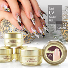 #50951  Canni New Arrival 25 color UV Builder Gel camouflage jelly uv nails extend gels natural nude color uv gels