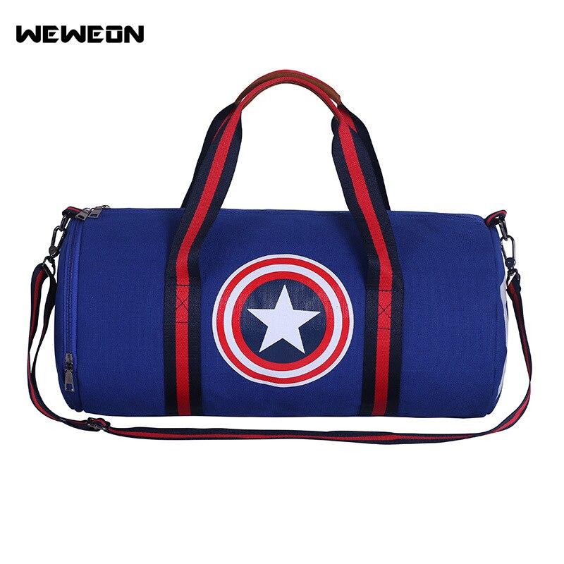 b833080ad2 Capitano degli Stati Uniti uomo Outdoor Sports Gym Bag di Grande Capienza  Duffle Viaggio Singolo sacchetto