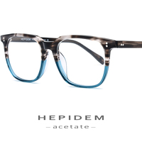 Acetate Glasses Frame Men Square Prescription Eyeglasses 2019 New Women Male Nerd Myopia Optical Frames Clear Spectacles Eyewear