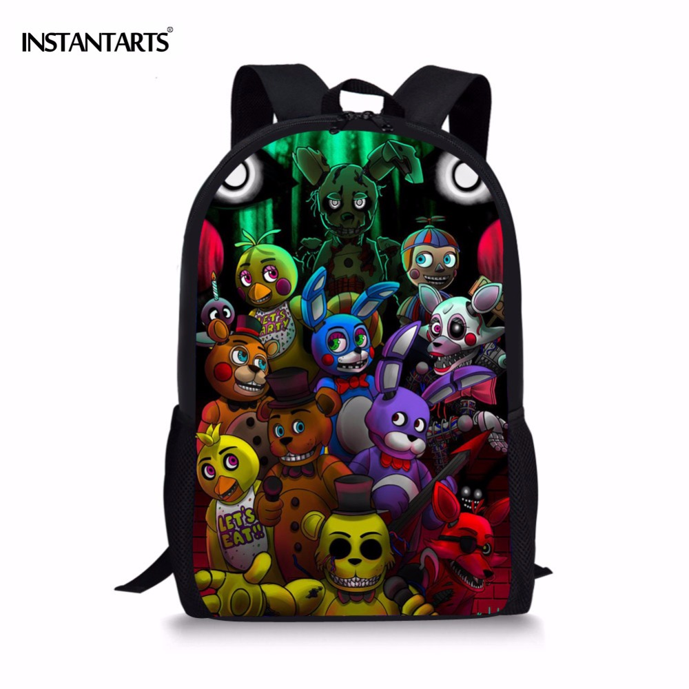 FNAF Freddy Backpacks for Kids Cartoon Five Nights At Freddys School Bags Children Teenagers Boys Girls Schoolbag Child Book Bag 2016 new kids cartoon ice queen schoolbag girls boys printed princess backpacks children s zipper notebook bag