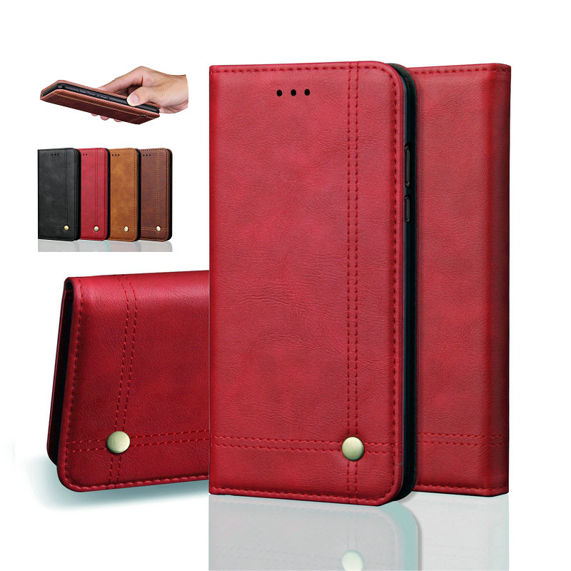 For Samsung Galaxy S10 Plus S10e M10 M20 Auto Closed Flip Cover A750 Leather Case For Galaxy A7 2018 A750F Magnetic Wallet Case