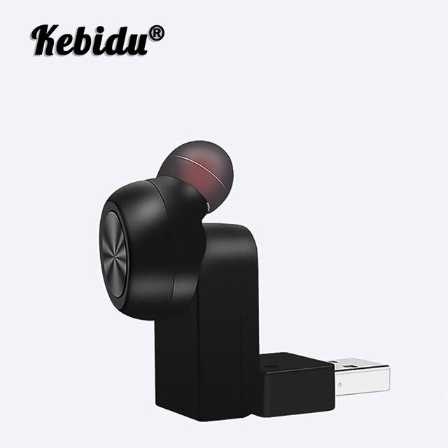 Kebidu Auricolari Bluetooth Senza Fili Mini Auricolare Invisibile Affari Auricolare A Cancellazione di Rumore Auricolari Con Il Mic Per Il Telefono Android