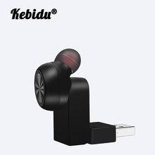 Kebidu bezprzewodowe słuchawki Bluetooth Mini niewidoczna słuchawka douszna biznesowy zestaw słuchawkowy z redukcją szumów słuchawki douszne z mikrofonem na telefon z systemem Android