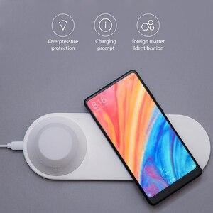 Image 3 - オリジナル mi Yeelight ワイヤレス充電器 Led ナイトライト磁気吸引のための急速充電 iphone サムスン Huawei 社シャオ mi