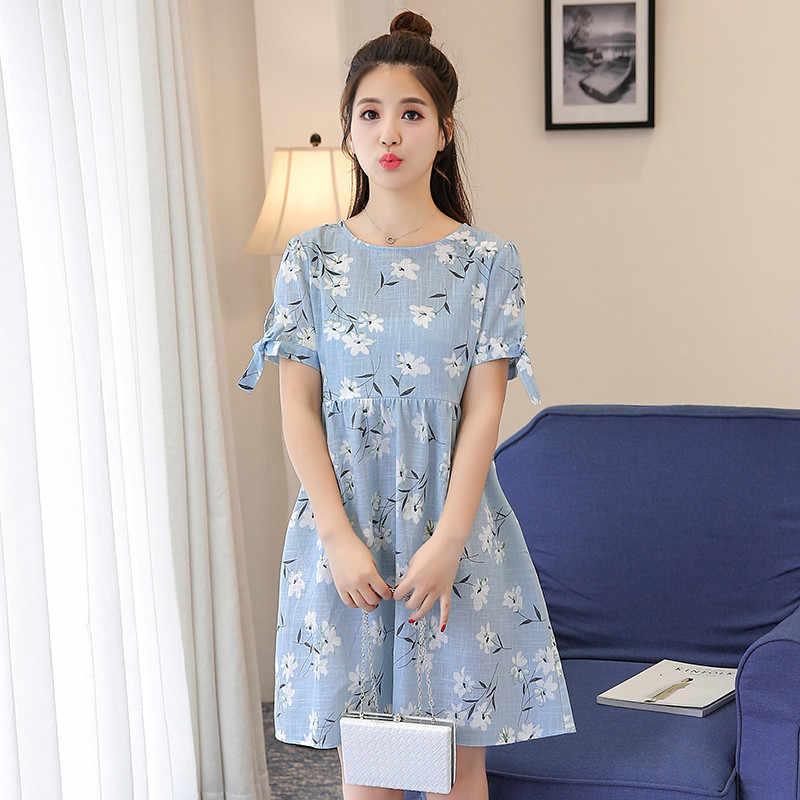 b0ac09c88b06a71 Летнее платье для беременных и кормящих платье с цветочным принтом грудного  вскармливания одежду для беременных Для