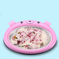 DIY Instant Ice Cream Maker Useful Lovely Fried Ice Cream Pan Yougurt Sorbet Gelato Ice Roll Mini Fast Freeze Plate Children 3