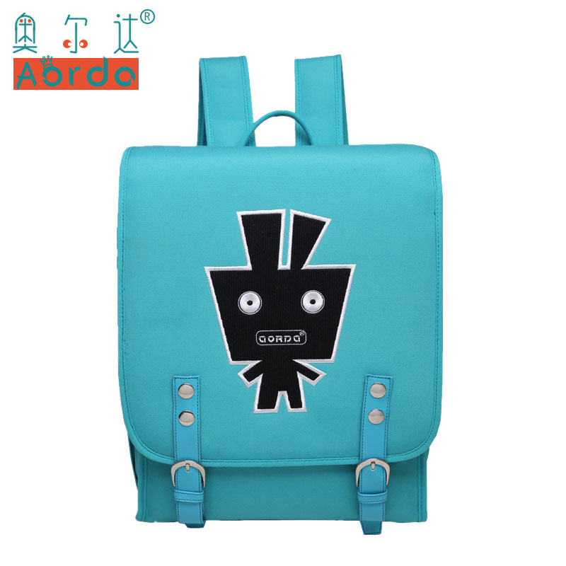 AORDA Japan tyle Backpacks For Teenage Girls Large Capacity Backpack for Boys Cartoon Alien Printing 14 inch Laptop School Bag