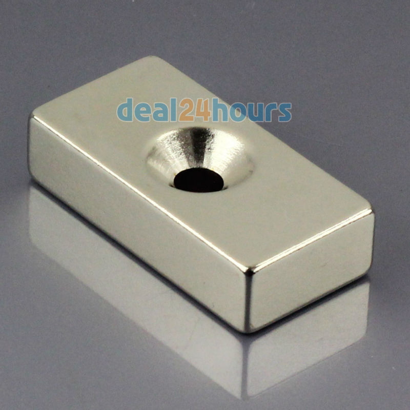 1pc N50 Super Strong Block Cuboid Neodymium Magnets 40 x 20 x 10mm Countersunk Hole 5mm Rare Earth Wholesale OMO Magnetics! 2pcs bulk strong ndfeb countersunk block magnets 40mm x 40mm x 20mm with single hole n35 neodymium square cuboid magnet