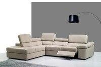 Натуральная кожа диван в гостиной диван сечения/угловой диван дома мебель диваны функциональный подголовник l-образный кресло