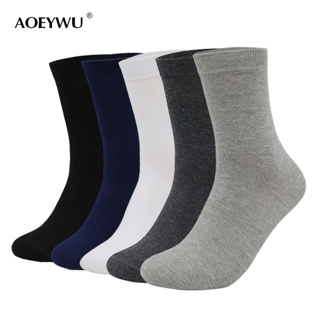 a1b0714744af3 Eur40-44 2017 autumn winter men high quality brand business cotton socks  male black dress socks for man long socks 5pairs/lot
