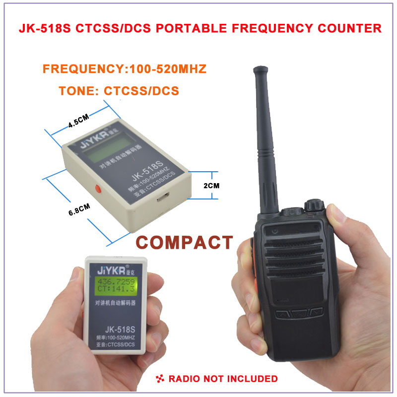 JK-518S Portable Frequency,CTCSS & DCS 2 In 1 Frequency Counter 100-520MHz,CTCSS/DCS Frequency Meter