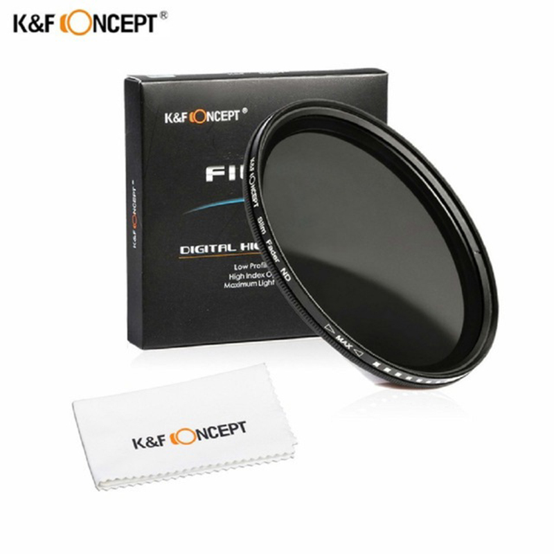 GREEN.L Variable ND Filter 55mm ND2 to ND400 Fader Neutral Density Filter Optical Glass with Filter Pouch