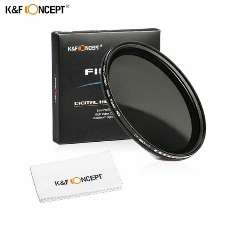 K & F Concetto di 40.5mm Regolabile ND2-400 Fader Variabile Densità Neutra ND2 per ND400 Filtro per Nikon Canon Sony fuji DLSR Camera