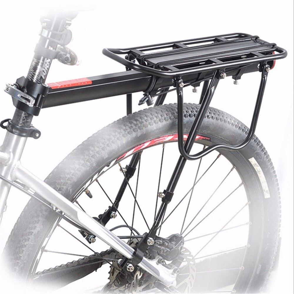 Vélo Porte Bagages Arrière Réglable Montagne Vélo Porte Bagages VTT Vélo Bagages Bicicleta Racks Support De Sac Noir Vélo Arrière Rack dans Porte-bicyclette de Sports et loisirs
