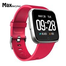 Smartwatch Maxinrytec Y7 BT4.0 Heart Rate Monitor de Pressão Arterial Inteligente À Prova D' Água Relógio Para Homens Mulheres De Longo Tempo de Espera