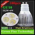 100 unids Dimmable 3X2 W 6 W GU10 E27 MR16 E14 B22 GU5.3 LED Spotlightg droplight Luz lámpara bombilla Lámpara de Downlight LED de Iluminación