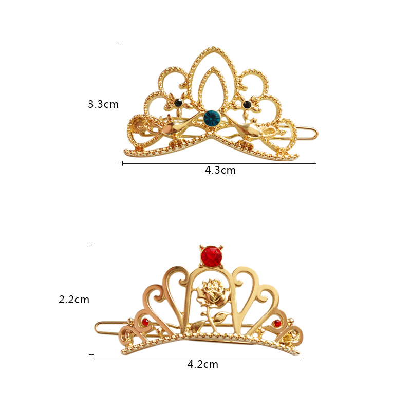 Timlee H018 Free shipping Lovely Flower Rhinestone Crown Hair Clip Barrettes Girls Lovely Hair Accessary Gift wholesale