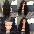 Unprocessed Full Lace Human Hair Wigs For Black Women Lace Front Wigs Natural Wave Virgin Brazilian Full Lace Wigs With Bangs