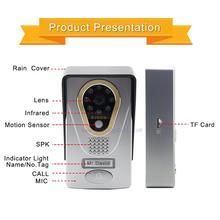 wifi/ip video door phone Remote Unlock Picture and SD Card video recording Motion sensor wifi Waterproof camera