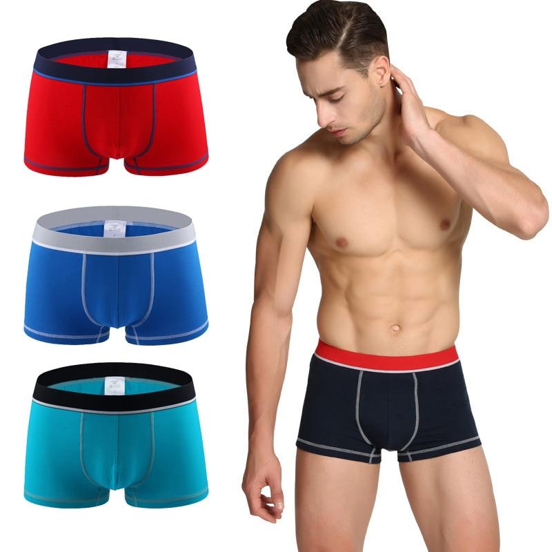 Cotton Sexy Men Underwear Boxer Splice Color Shorts Bulge Pouch Soft Underpants Comfortable Male Boxer Shorts Cueca Boxershorts