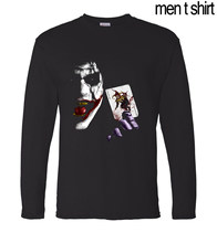 09621448 hip hop style man top tees Joker Heath Ledger men t shirt Batman 2 The Dark  Knight Rises 2017 autumn men's long sleeve t-shirts