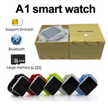 ФОТО A1 Smart Watch Bluetooth SIM TF Health Monitoring Touch Mobile Phone Smartwatch Alarm Anti-lost  Camera DZ09 Z60  IOS Android