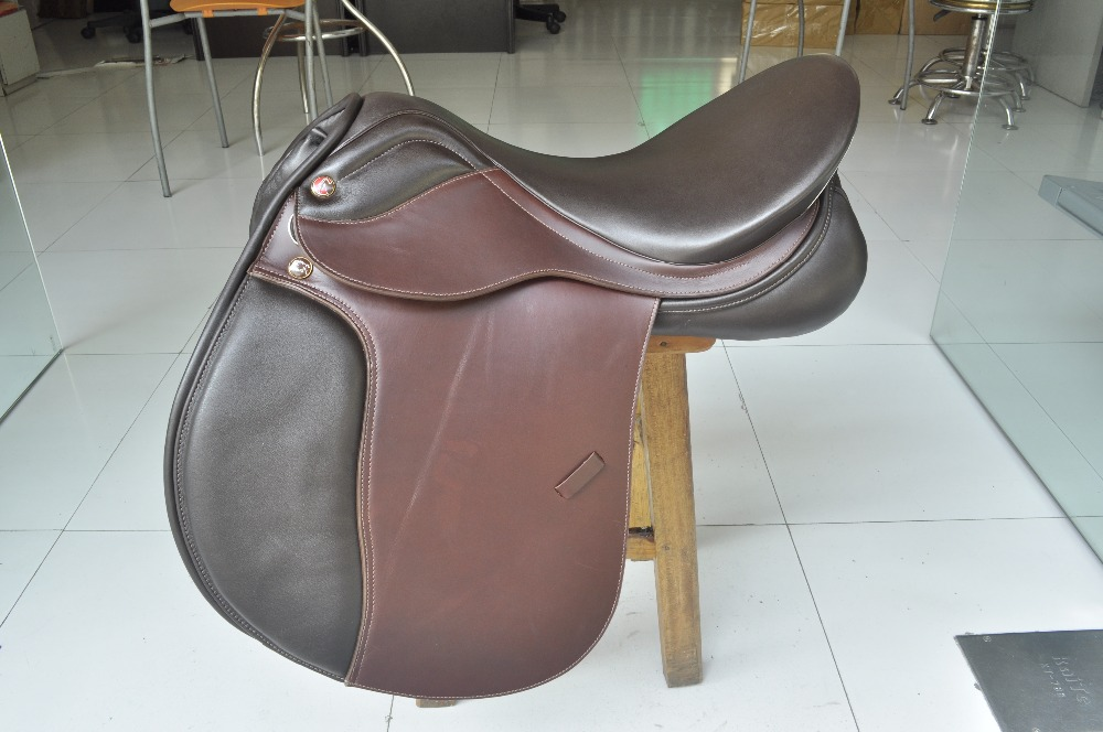 Aoud Saddlery Horse Riding Saddle Cow Leather Integrated Saddle Synthetic Saddle Tourist Saddle Full Genuine Leather