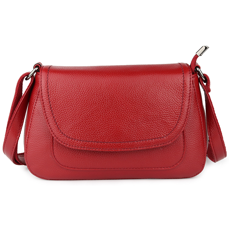 Guaranteed Cowhide Leather Women Shoulder Bags Hot Brand Fashion Ladies Messenger Bags Bolsos Mujer Small Cross-body Bags 2019