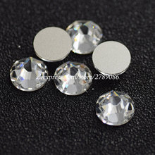 1440pcs/lot SS3-SS20 Clear Whit Crystal (Gold bottom) 3D Nail Art Non Hotfix Flatback Rhinestones For Shoes/Bag DIY Decorations ss20 smoked topaz color 1440pcs non hotfix rhinestones 4 6mm 20ss crystal flatback nail art rhinestones